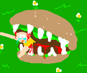 In Soviet Russia, Burgers eat YOU