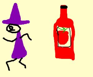 Lulu is terrified of ketchup