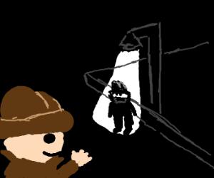 Detective is not suspicious of suspicious man