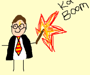 Harry Potter's wand blows up