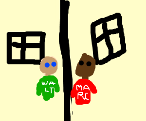Walt meets Marc on street corner