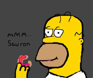 Homer is eating the one donut to rule them all
