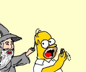 Homer, that's not a donut, it's the One Ring!