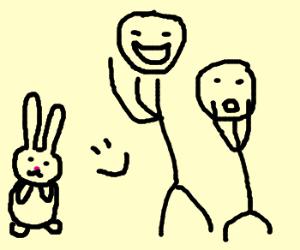 Bunny makes people happy