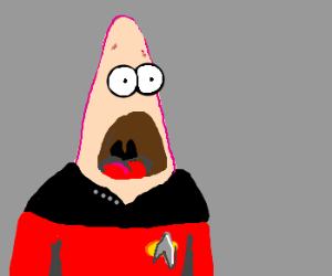 Patrick Star Picard, is stunned.