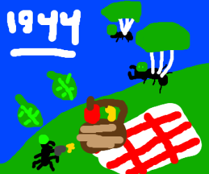 Army ants and the D-Lunch Landing of '44