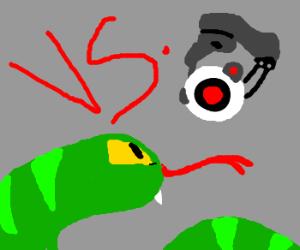 Snake VS. GLaDOS's camera