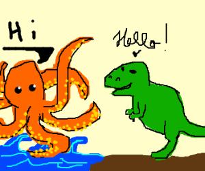 T-Rex meets Kraken