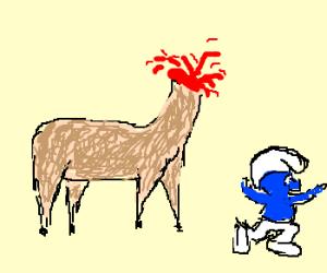 Headless llama atacks smurf
