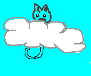 kittie content on a cloud