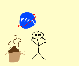 Someone finds a box of feces at nasa