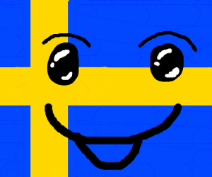 glad svensk flagga/happy swedish flag