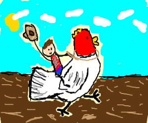 giant chickens rodeo