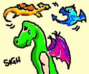 They never let Trogdor join the dragon games