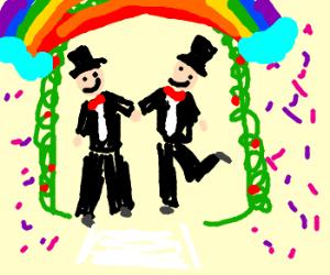 A Flamboyant, but Pristine Wedding
