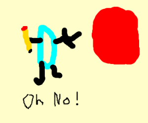 Drawception acted by red blob