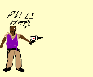 pill gun getting ready to shoot