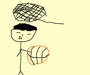 no! Yao Ming was squished by a flyswatter!