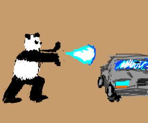 Panda Hadoukens car.