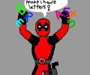 Deadpool with b-r-e-a-s-t-s