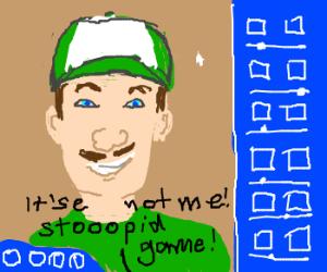 Luigi can't create himself on The Sims 64