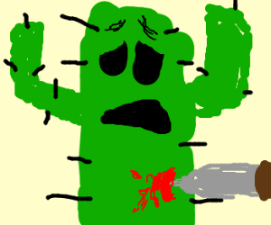 Cactus gets stabbed