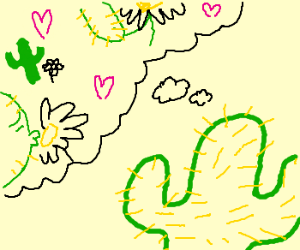 Cactus deeply in love with Daisy