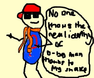 Orange snake scarf turns man into d*ucheb*g
