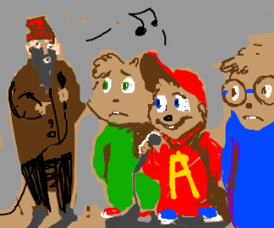 Alvin and the Chipmunks join up with a hobo.