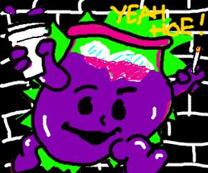 Purple kool-aid man - Drawception Purple Kool Aid Man