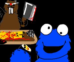 Cleaver Beaver makes PikaSushi 4 Cookie monstr