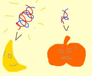 Banana's DNA is stronger than a pumpkins