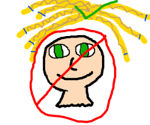 remove the heads from dreads