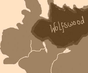 Map of Wolfswood area (Game of Thrones)