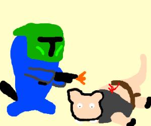 Wobba Fett kills Han Slowpoke
