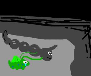 Bulbasaur mourns best friend Onix's death