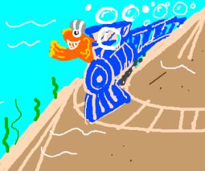 Conductor fish! Choo-CHOO!