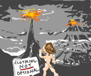 Frodo strolls into Mordor, ignores sign
