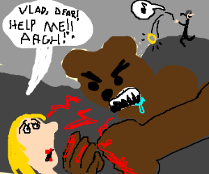 Vampire ignores wife being punched by werebear