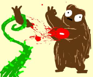 SFW: Plant tears off bears third leg