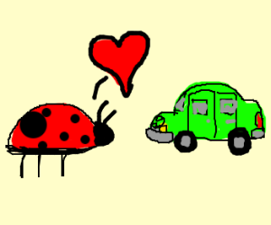 ladybug falls in love with another bug