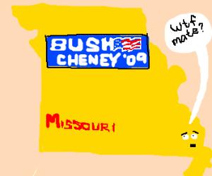 Somewhere in MO, Bush '09 campaign stickers