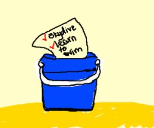 bucket list in a bucket!