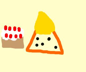a nacho cake