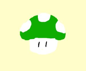 Green 1-up 'shroom from Super Mario