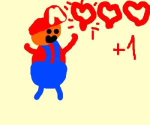 Mario earns himself an extra life