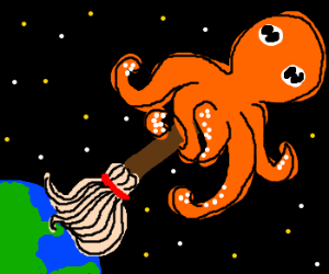 Giant octopus mops up oceans from space