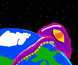 Purple Tentacle wants to take over the world