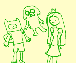 Green Finn, Jake and Princess Bubblegum