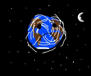 The Earth is sad